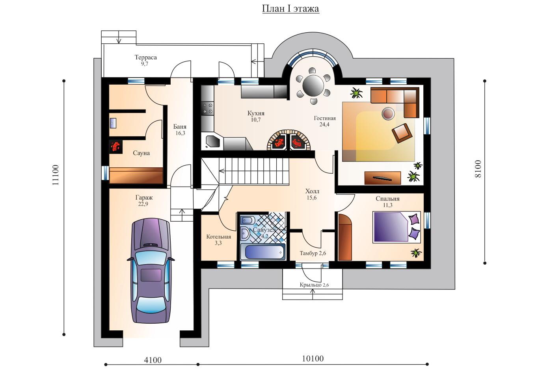 проекты дешевых домов с гаражом и баней