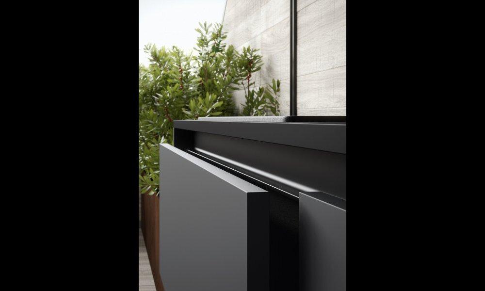 cuisine moderne gris anthracite et bois. Black Bedroom Furniture Sets. Home Design Ideas