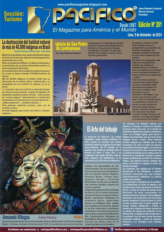 Revista Pacífico Nº 201 Turismo