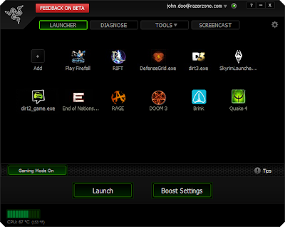 Razer Game Booster 3.6.0 Screenshot