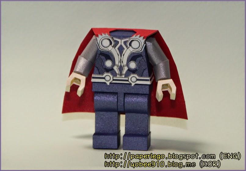 Making Lego Thor Papercraft
