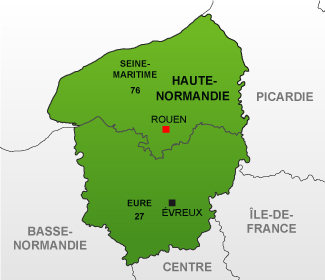 Carte de haute normandie r gion carte france d partement for Haute de france