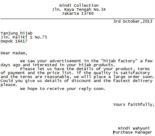 Dont Just Talk It Contoh Surat Permintaan Pembelian Barang