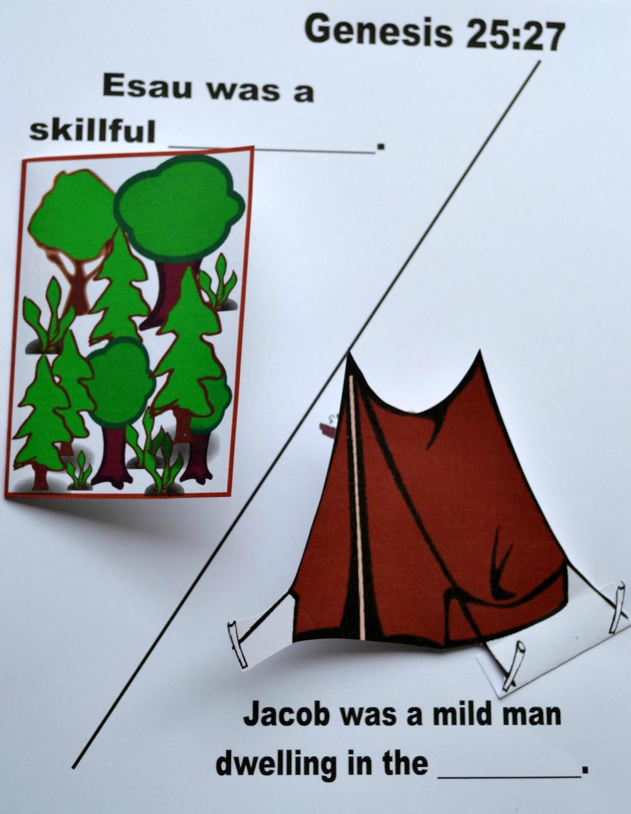 bible fun for kids genesis jacob u0026 esau