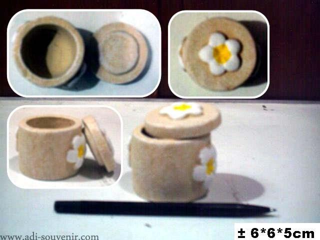 Keramik Tempat Perhiasan Bulat Motif Bunga Custom KTPH 8 | Adi ...