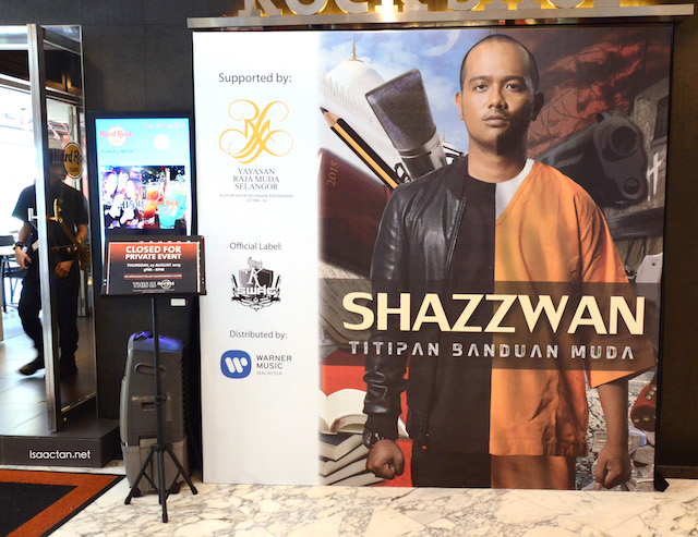 Shazzwan Launches Debut Album 'Titipan Banduan Muda' @ Hard Rock Cafe KL