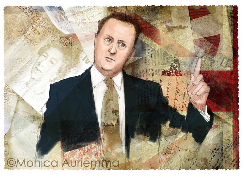 David-Cameron-Immigrant-speech-Portrait-monicauriemma