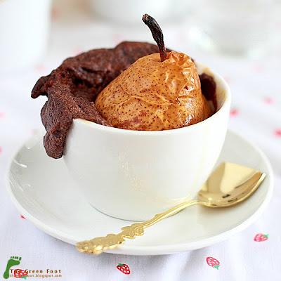 Budinca de ciocolata cu pere