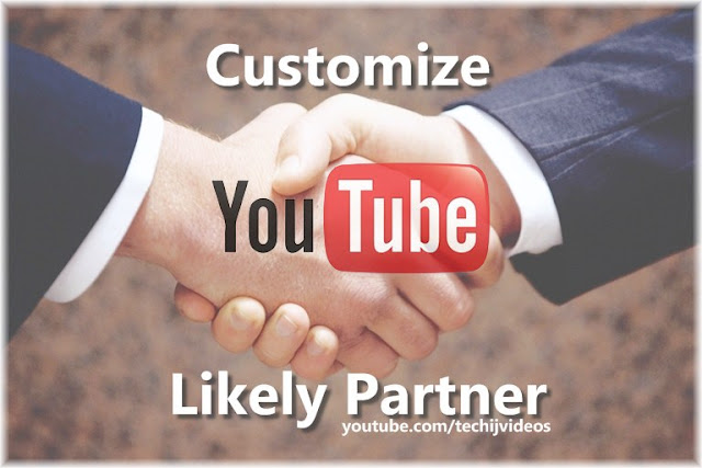 Customize YouTube Channel Likely Partner