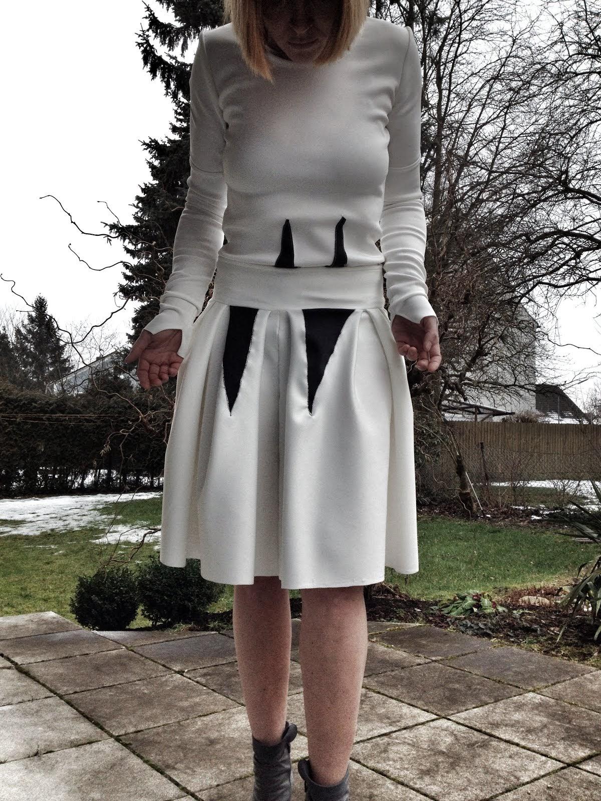 skirt white scuba