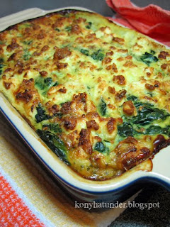 salmon-bake-with-leek-spinach-feta