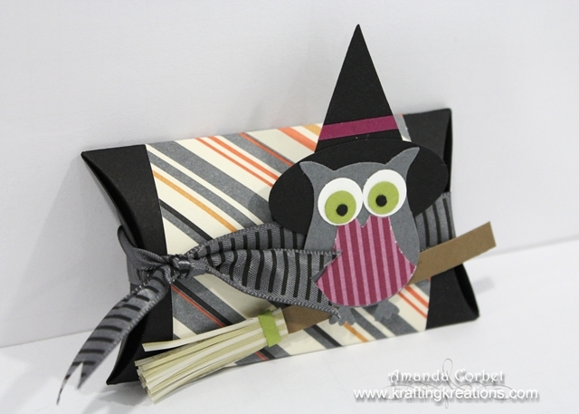 Witchy Owl Pillow Box