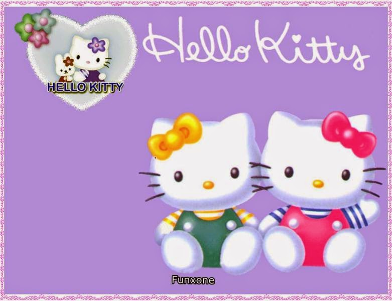 Gambar wallpaper gratis Hello Kitty warna ungu cute banget