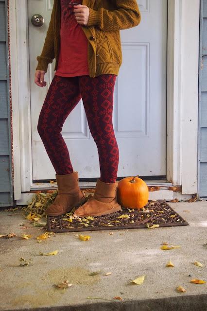 fall+tribal+print+leggings - Stepping Stones