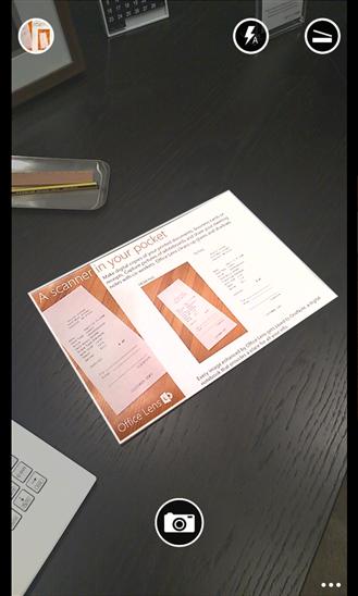 تطبيق مجاني يعمل كماسح ضوئي للمستندات والوثائق لويندوز فون ونوكيا لوميا Office Lens xap