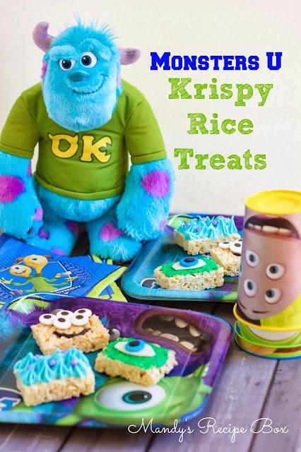 monsters u krispy rice treats