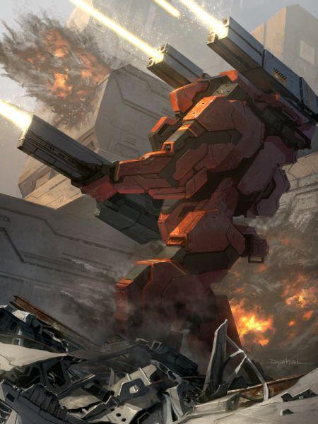 Geoffroy Thoorens djahalland deviantart ilustrações arte conceitual guerras futuristas batalhas tecnologia Galaxy Saga - Comandante com arma de raios