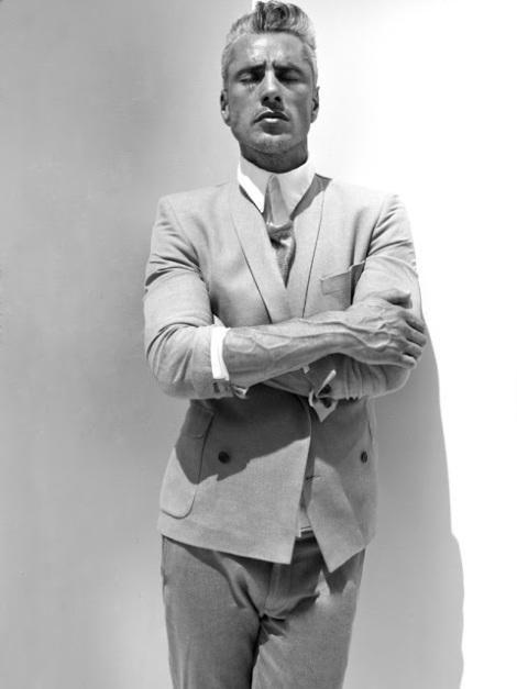 Richard Lima Wearing Grey Suit