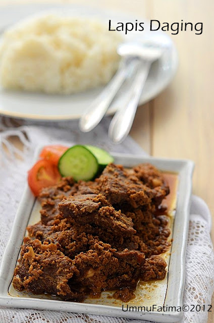 lapis daging (sweet spiced beef)
