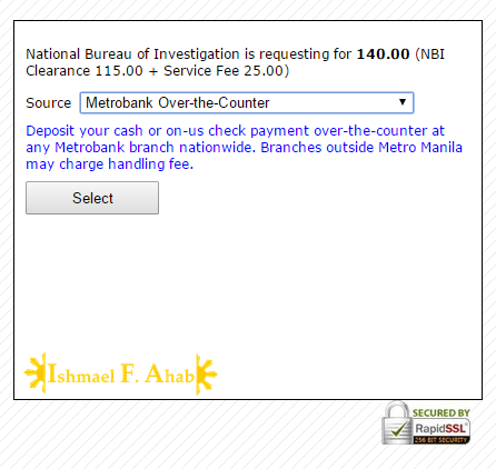 Online NBI Clearance - Step 10