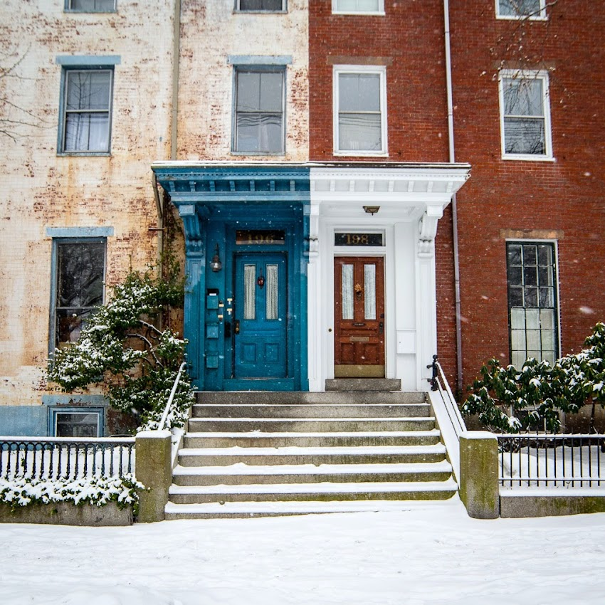 Portland, Maine Danforth Street in the West End January 2015 winter photo by Corey Templeton