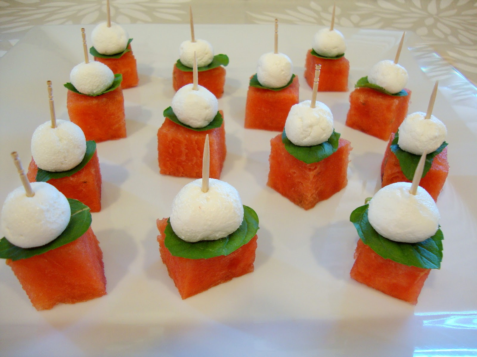 ... Indulgence: Watermelon and Goat Cheese Bites for #SundaySupper