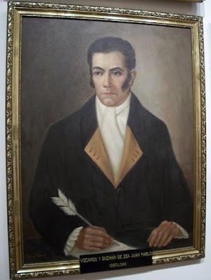Retrato de Juan Pablo Vizcardo y Guzmán.