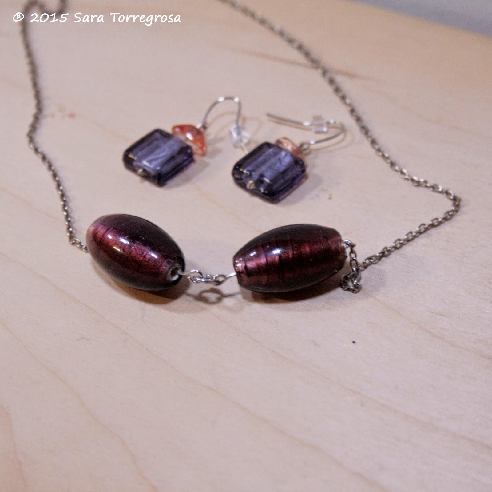 Colgante y pendientes - Cristal de Murano - El Pegotiblog