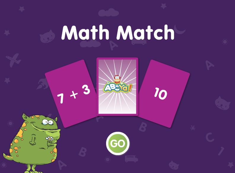 http://www.abcya.com/math_match.htm