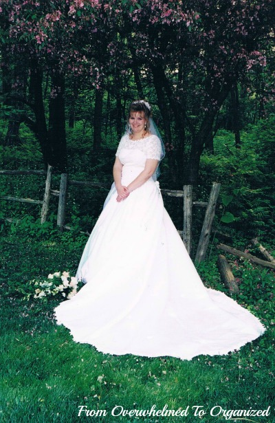 Why i gave away my wedding gown from overwhelmed to for Wedding dress cleaned and boxed
