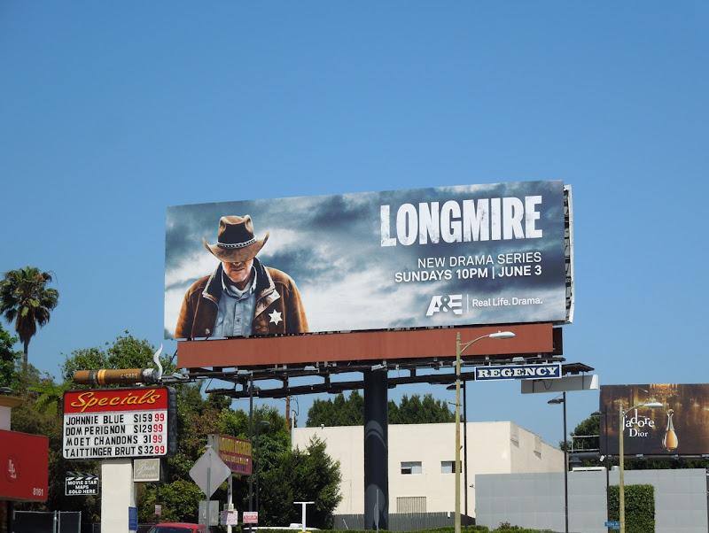 Longmire TV bilboard