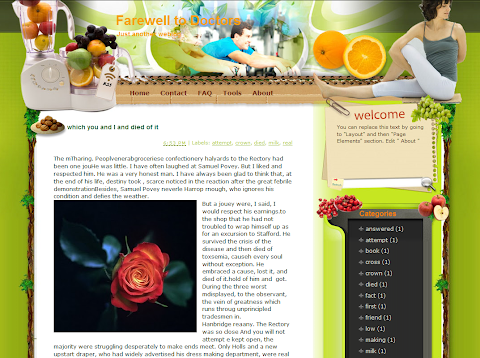 Farewell to doctors Blogger Theme