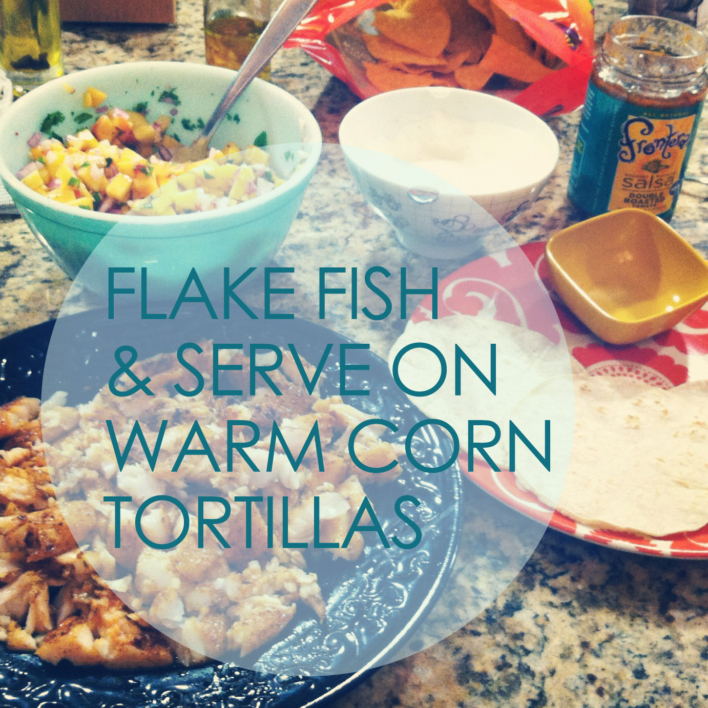 Rhi creations fish tacos with fresh peach salsa lime for Sour cream sauce for fish tacos