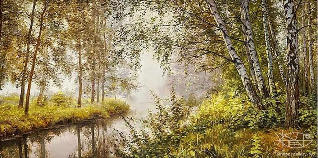 pinturas-paisajes-con-agua-y-arboles