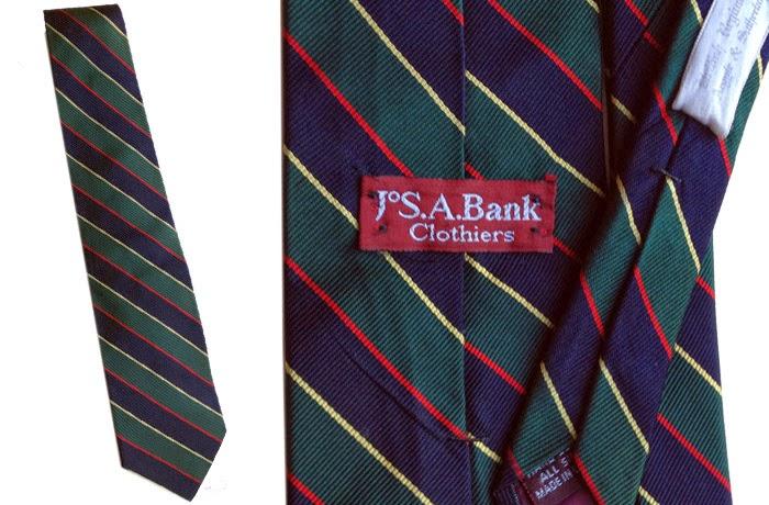 vintage Jos A Bank regimental