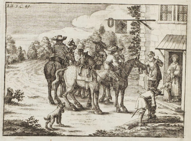book engraving - rural scene