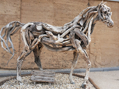 Driftwood horse at the Eden Project, Cornwall by Heather Jansch