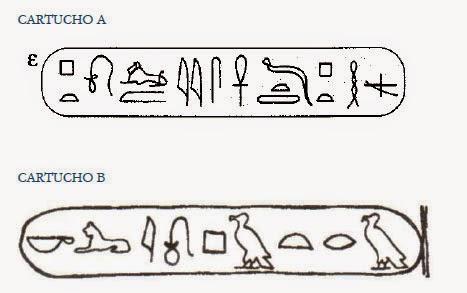 en estos dos cartuchos estn escritos en escritura jeroglfica los nombres de un rey y una reina egipcios cuyos en griego son ptolemaos