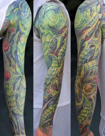 green footprint tattoos