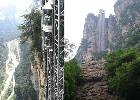 bailong elevator, china, Zhangjiajie, world tallest, glass, elevator, exterior elevator, biggest, largest, crazy, scary, awesome engineering in china, awesome engineering, engineer, non famous engineering