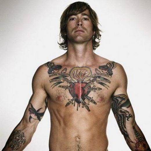 97 Unbeatable Chest Tattoos For Men: Tattoo Fonts: Star Tattoos For Men On Chest