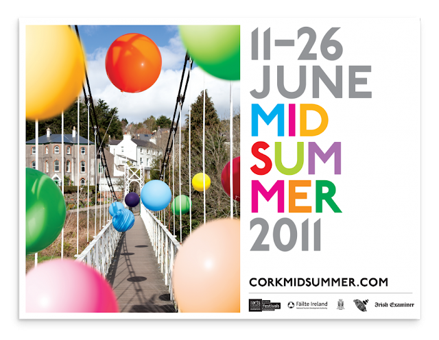 Cork Midsummer Festival 2011 identity and materials by Aad, part of the 100 Archive