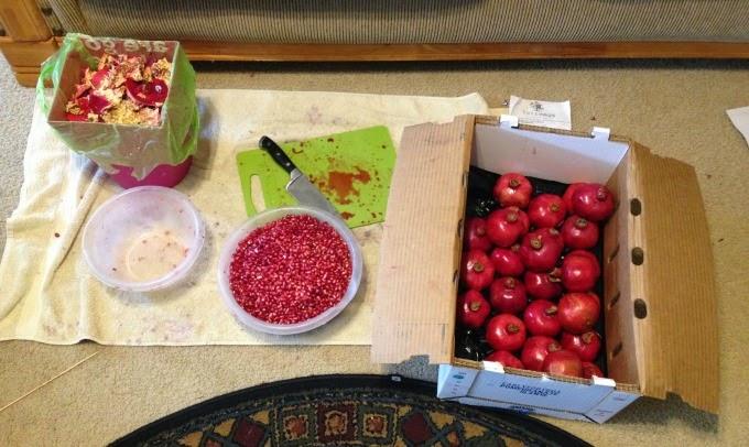 Opening Pomegranates