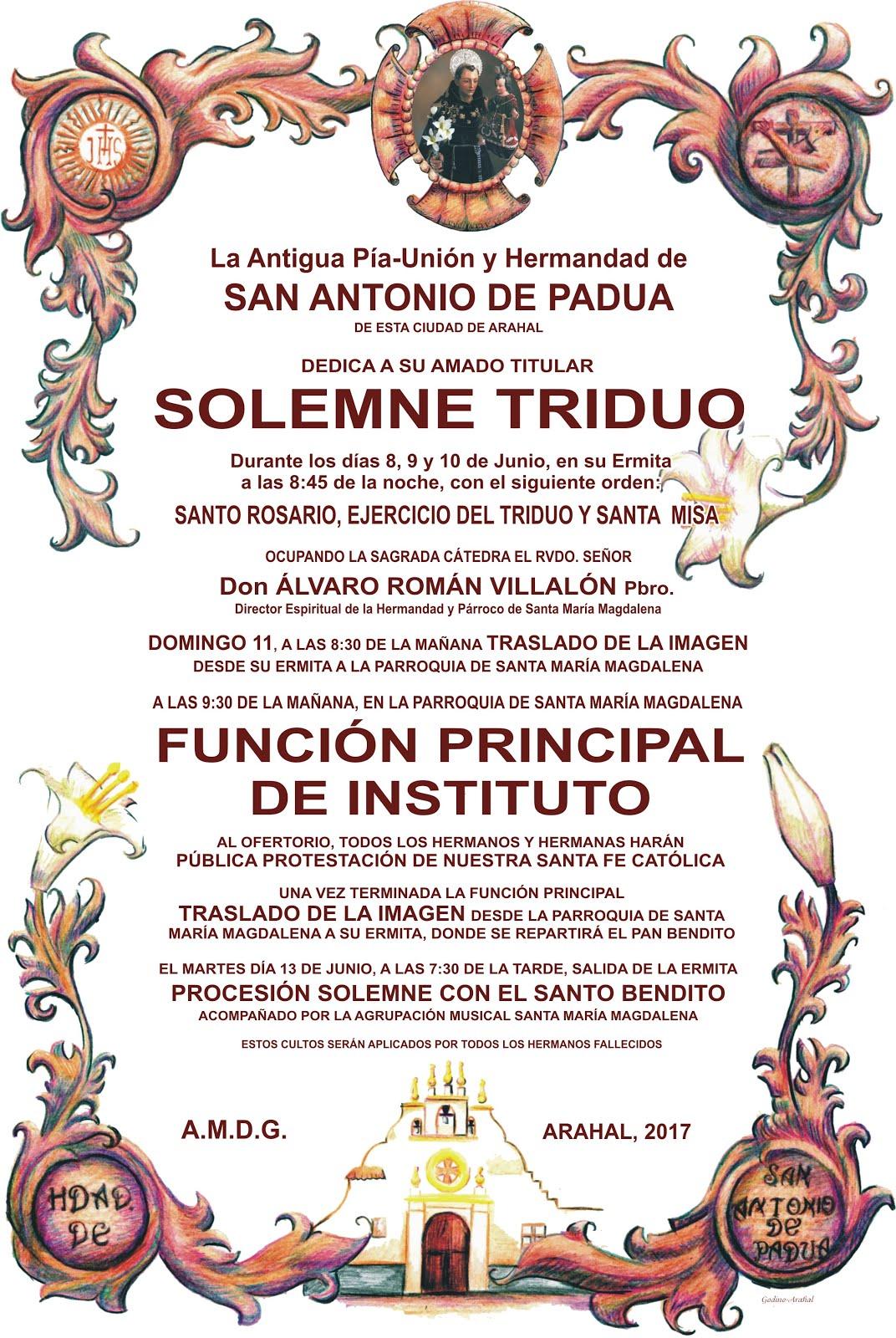 TRIDUO Y FUNCIÓN 2017
