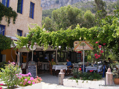 Olive Garden Restaurant in Meis, Greece