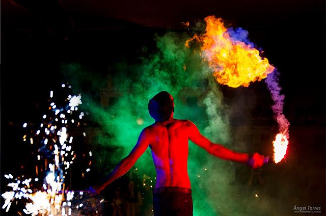 espectáculo fuego fiestas realengas