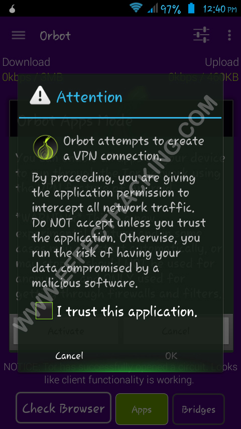 Orbot Android App For Hackers Effect Hacking