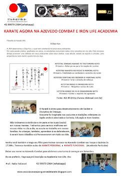 KARATÊ PARA CRIANÇAS AGORA NA AZEVEDO COMBAT E IRON LIFE CONFIRAM !!
