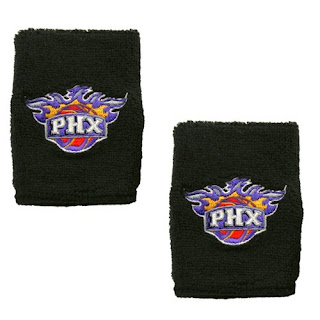 adidas Phoenix Suns Black Team Logo Wrist Sweatbands