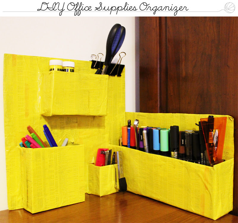 Cats sisters diy office supplies organizer for Diy office supplies